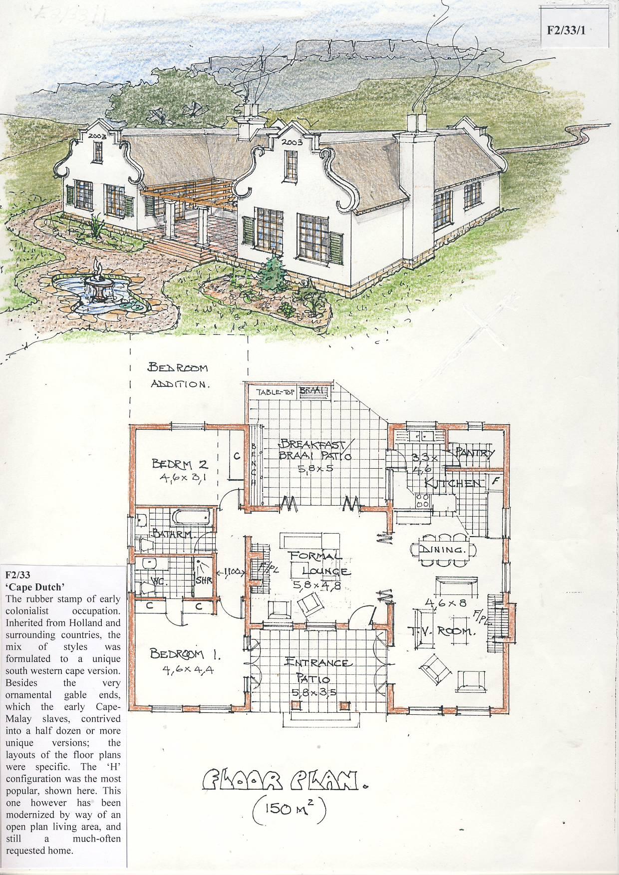 F2 33 Cape Dutch Hillbilly Homes